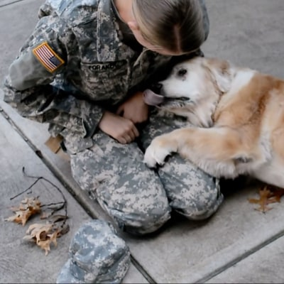 This Soldier Reuniting With Her 13-Year-Old Dog Will Warm Your Heart