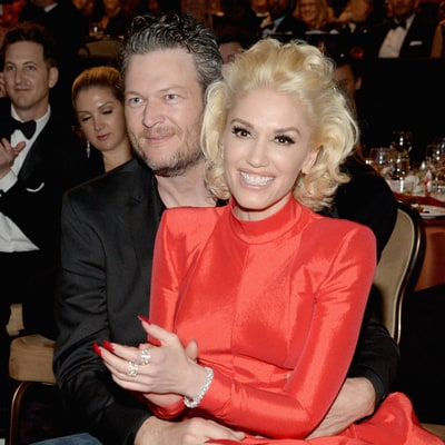 Gwen Stefani Sits in Blake Shelton's Lap at Clive Davis' Pre-Grammys 2016 Party