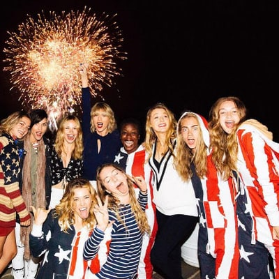 Taylor Swift Gets Patriotic With Blake Lively, Gigi Hadid, More at July 4th Party