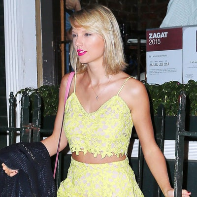 Taylor Swift Resurfaces in NYC Wearing Sunny Lace Separates: Shop the Outfit