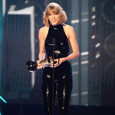 Taylor Swift Gushes About 'Boyfriend Adam,' a.k.a. Calvin Harris, at iHeartRadio Awards 2016