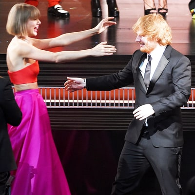 Taylor Swift Looks Elated After Losing to Friend Ed Sheeran for Best Song at 2016 Grammys