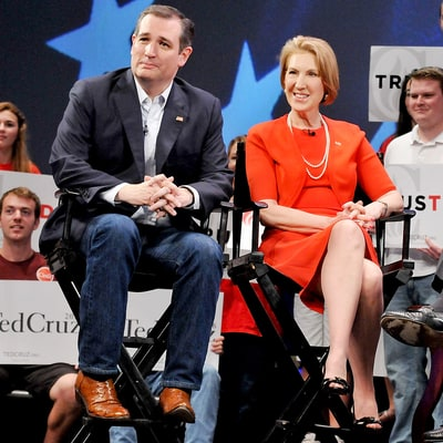 Ted Cruz Names Carly Fiorina as His Running Mate
