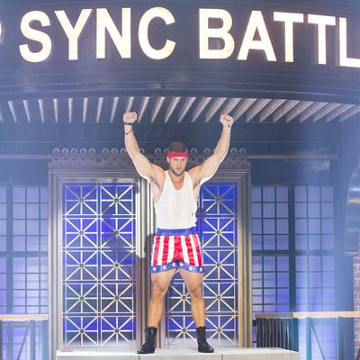 Tim Tebow Strips Down to Perform 'Eye of the Tiger' as Rocky Balboa on 'Lip Sync Battle': Watch