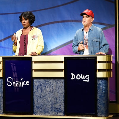 Tom Hanks Plays Donald Trump Supporter on Saturday Night Live's 'Black Jeopardy'