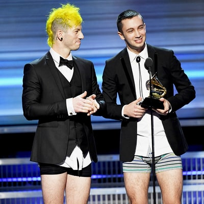 Grammys 2017: Most Awkward Moments, From Twenty One Pilots' Underwear to Adele Restarting Tribute