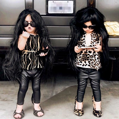 Mom Dresses Her Twins as Kardashians, Donald Trump and Hillary Clinton