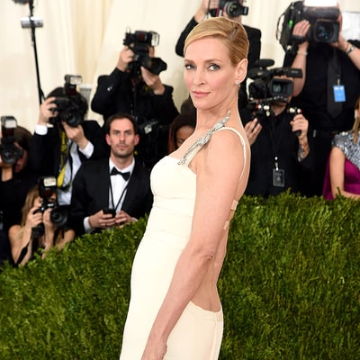 Uma Thurman Flashes Hint of Her Butt at Met Gala 2016: Photos
