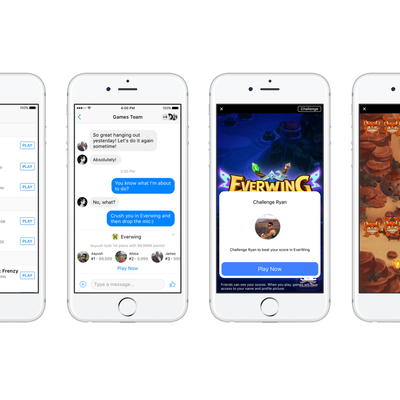 Facebook Messenger Now Offers Games