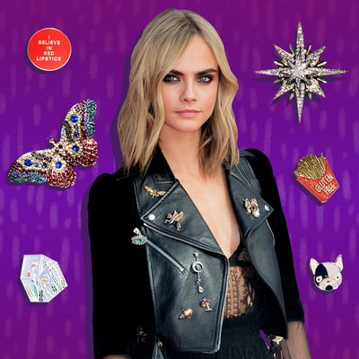Pins Are 2017's Hottest Accessory — Here's How to Wear 'Em Like Cara Delevingne