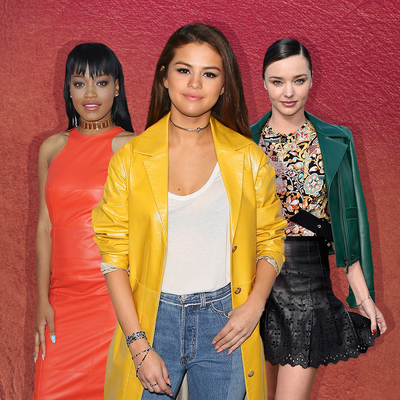 Shop the Colorful Leather Trend, Every Celeb's New Obsession