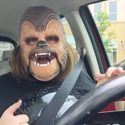 Video of Woman Cracking Up in Chewbacca Mask Goes Viral