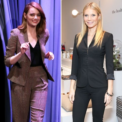 Emma Stone and Gwyneth Paltrow Make a Strong Case for Stylish Pantsuits