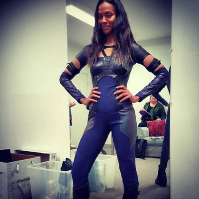 Zoe Saldana Fits Back into Guardians of the Galaxy Bodysuit — See Her Awesome Post-Baby Body