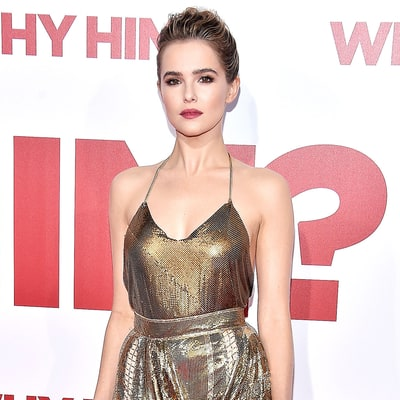 Zoey Deutch's Golden Goddess Dress Must Be Appreciated From Every Angle